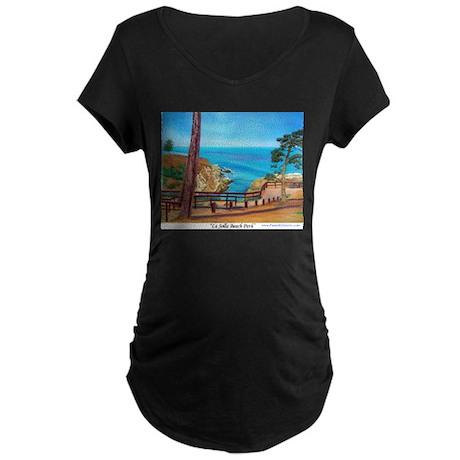 La Jolla Beach Path Maternity Dark T-Shirt