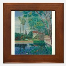 Balboa Park Pond Framed Tile
