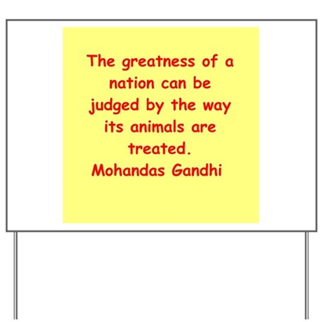 gandhi quote Yard Sign