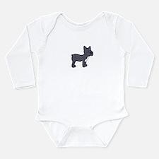 Cute French Bulldog Long Sleeve Infant Bodysuit
