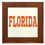 Orange Florida Merchandise Framed Tile