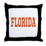 Orange Florida Merchandise Throw Pillow