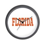 Orange Florida Merchandise Wall Clock
