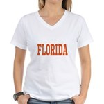 Orange Florida Merchandise Women's V-Neck T-Shirt