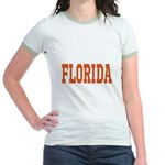 Orange Florida Merchandise Jr. Ringer T-Shirt