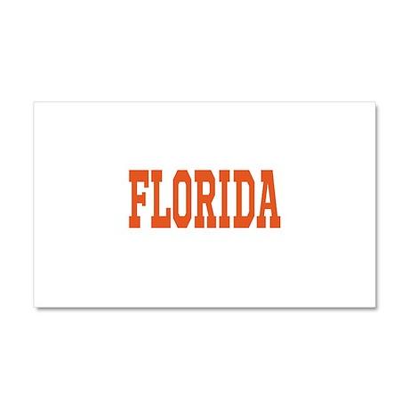 Orange Florida Merchandise Car Magnet 20 x 12