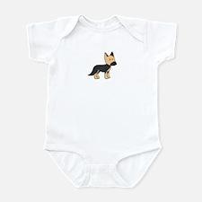 Cute German Shepherd Infant Bodysuit