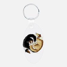 Collie Circle Keychains