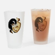 Collie Circle Drinking Glass