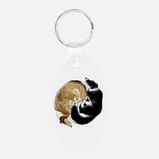 Collie/Border Collie Circle Keychains