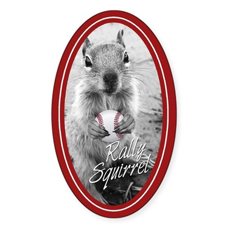 Rally Squirrel Signature St Louis Sticker (Oval)