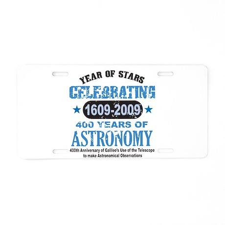 Astronomy Lover Aluminum License Plate