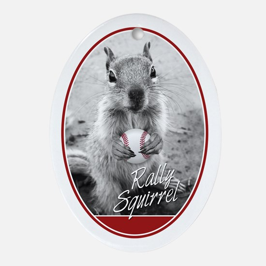 Rally Squirrel Signature St Louis Ornament (Oval)