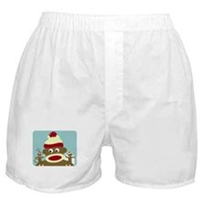 Sock Monkey Angel & Devil Boxer Shorts