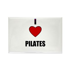 I LOVE PILATIES Rectangle Magnet (100 pack)