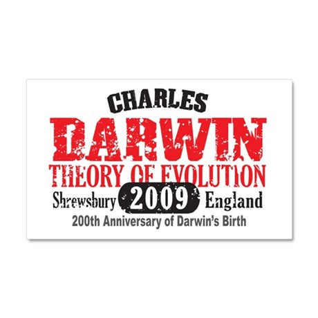 Charles Darwin Car Magnet 20 x 12