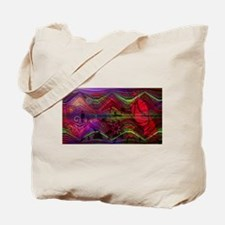 Asian figures with abstract d Tote Bag