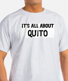 All about Quito Ash Grey T-Shirt