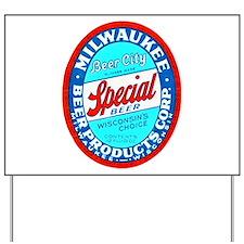 Wisconsin Beer Label 9 Yard Sign