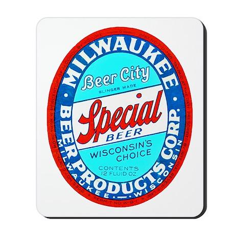 Wisconsin Beer Label 9 Mousepad