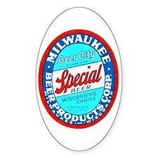 Wisconsin Beer Label 9 Decal