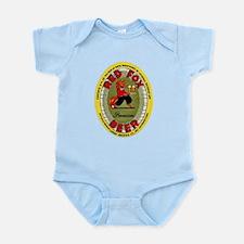 Connecticut Beer Label 2 Infant Bodysuit