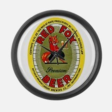 Connecticut Beer Label 2 Large Wall Clock