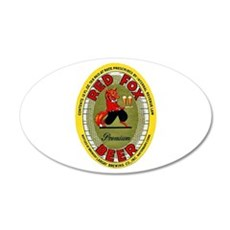 Connecticut Beer Label 2 22x14 Oval Wall Peel