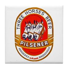 Madagascar Beer Label 1 Tile Coaster