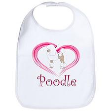 Heart My Poodle Bib