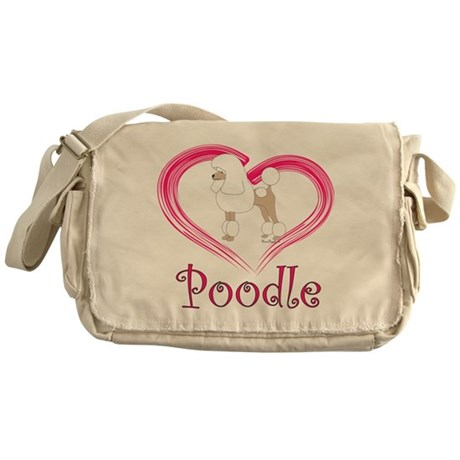 Heart My Poodle Messenger Bag