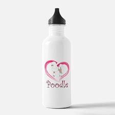 Heart My Poodle Water Bottle