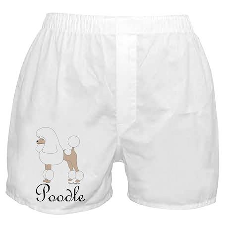 White Poodle Boxer Shorts