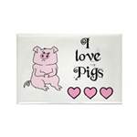 I LOVE PIGS Rectangle Magnet (10 pack)