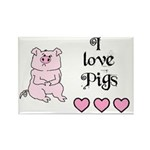 I LOVE PIGS Rectangle Magnet (100 pack)
