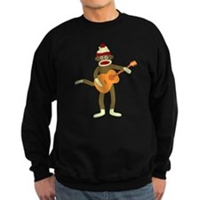 Sock Monkey Acoustic Guitar Sweatshirt