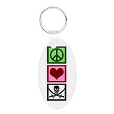 Peace Love Pirates Keychains