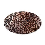 Exotic Leopard Print 38.5 x 24.5 Oval Wall Peel