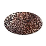 Exotic Leopard Print 22x14 Oval Wall Peel