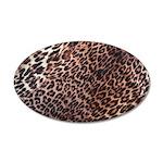 Exotic Leopard Print 22x14 Oval Wall Peel