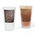 Exotic Leopard Print Drinking Glass
