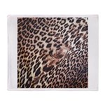 Exotic Leopard Print Throw Blanket