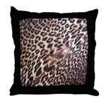 Exotic Leopard Print Throw Pillow