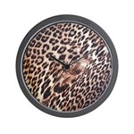 Exotic Leopard Print Wall Clock