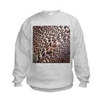 Exotic Leopard Print Kids Sweatshirt
