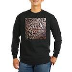 Exotic Leopard Print Long Sleeve Dark T-Shirt