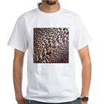 Exotic Leopard Print White T-Shirt