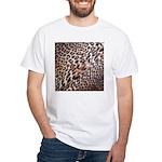 Exotic Leopard Print White T-Shirt