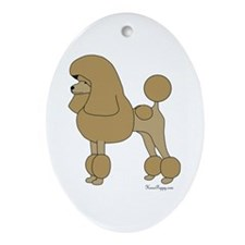 Apricot Poodle Ornament (Oval)