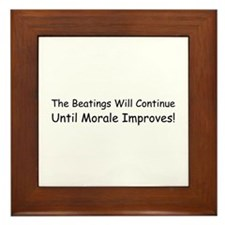 The Beatings Will Continue Un Framed Tile